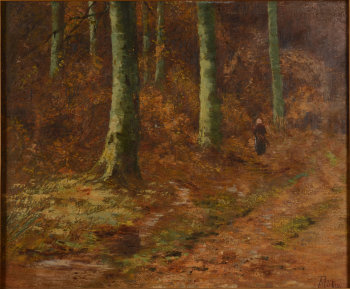 Albert Dutry woman in the forest