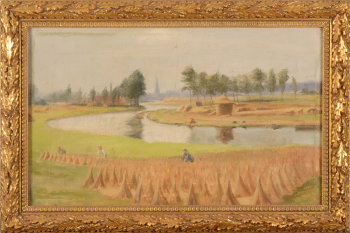 V. Eeckhaut the river Leie at Kortrijk in 1893