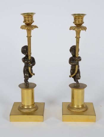 Swedish Empire Candleholders