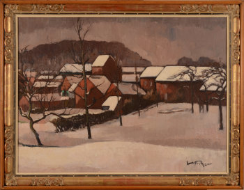 Julien Ficher village in the snow