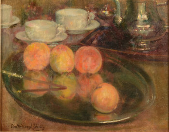 Flore Vindevogel-Geleedts Still life with peaches
