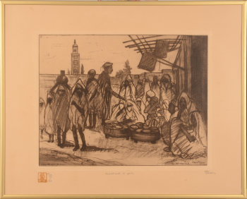 Jehan Frison Marrakesh etching