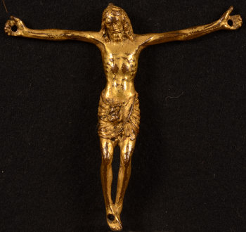 Gilt bronze christ