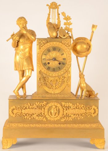 Gilt bronze Charles X clock