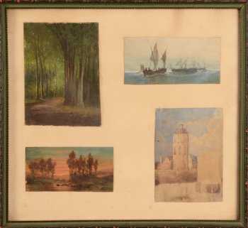 Jean Julien Godenne collection of watercolours