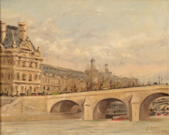 Jules Gondry view of Paris in 1887