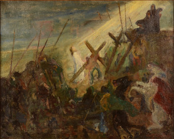 Jan Willem Grinwis Plaat Stultjes Christ on Golgotha