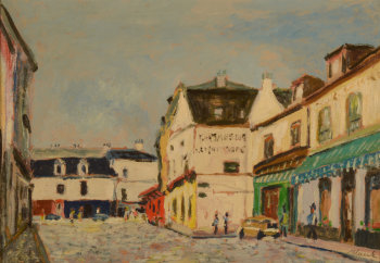 Rigobert Haeck view of a French village