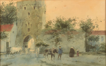 Armand Heins the Moerenpoort gate in Tongeren