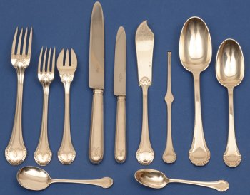 Henin et Co Paris silver art deco cutlery set