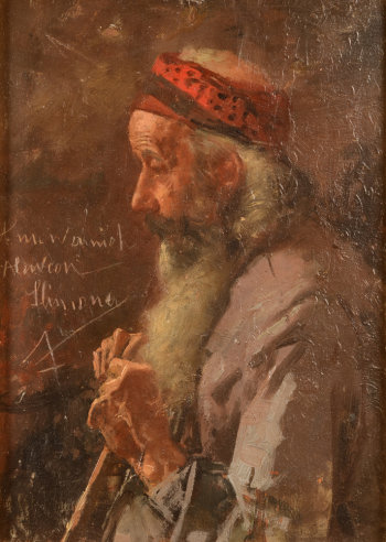 Nicolas P. Himona portrait of a bearded man