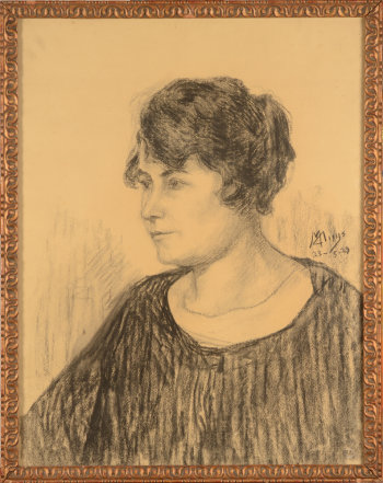 Modest Huys portrait of a lady 1929