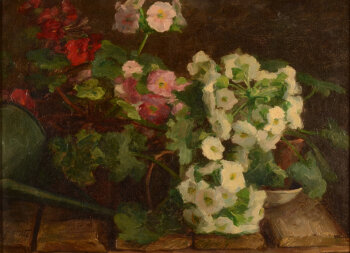 Lucie Jacquart still life with Phlox 1906
