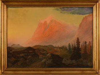 Arnold Jenny Swiss mountain view 1852