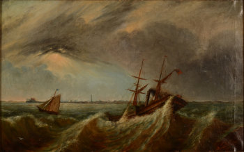 Louis Jotthier steamer in rough water