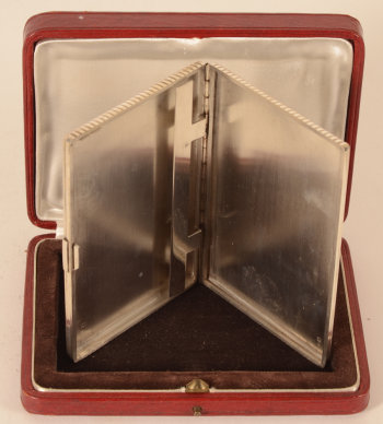 Keller silver art deco case