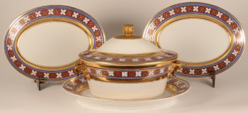 KPM porcelain tureen and serving plates