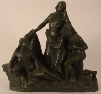 Hippolyte Le Roy group of three figures
