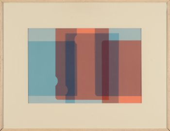 Leopold Leclercq composition in blue and red
