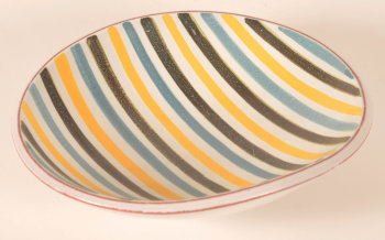 Stig Lindberg striped dish