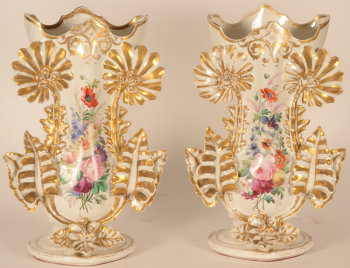 A massive pair of Louis-Philippe porcelain vases