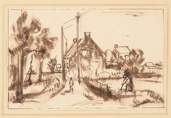 Antoon Marstboom Landscape with house