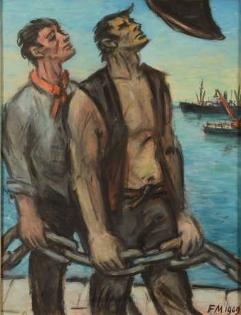 Frans Masereel Dock workers