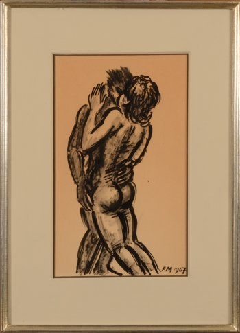 ​Frans Masereel embracing couple