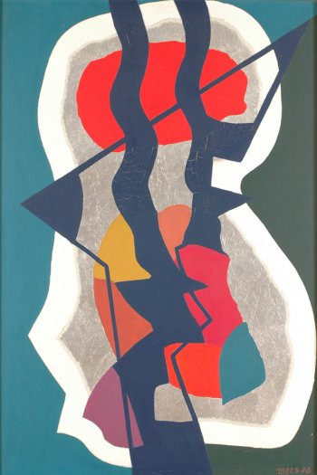Jozef Mees abstract composition 1970