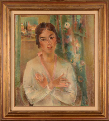 Maurice-Jean Micha the girl with the crossed arms