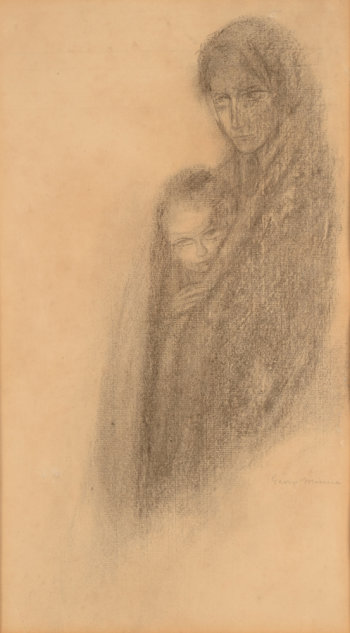 George Minne drawing mother and child