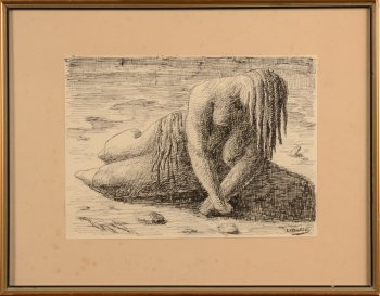 Jan Mulder figure on beach III