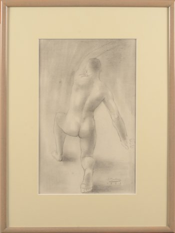 ​Jan Mulder drawing male nude 1939