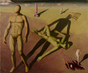 Jan Mulder surrealist dreamscape figures