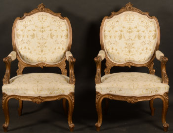 Napoleon III pair of armchairs