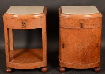 A pair of 1920s nightstands