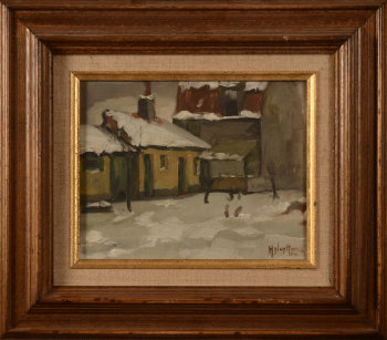 Henri Nuyttens  Village in the snow (Pede)