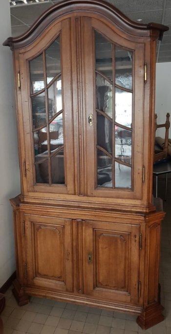 Flemish oak display cabinet