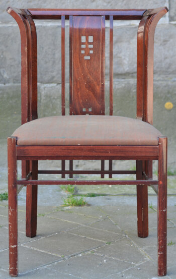 Curious oriental style chair