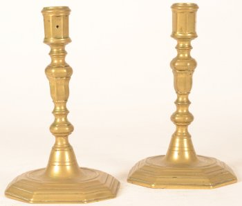 Pair of L XIV candlesticks