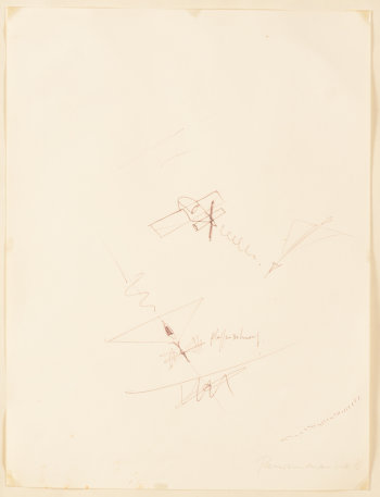 Panamarenko study drawing 1976