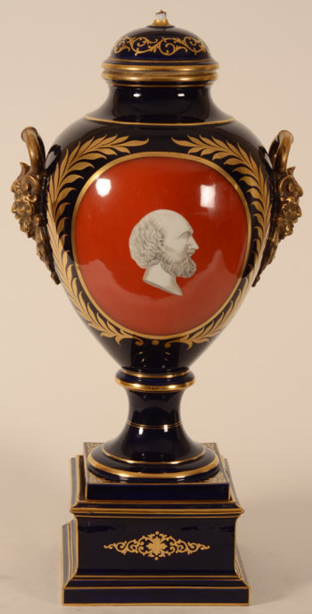 Porcelain vase with Asclepios portrait