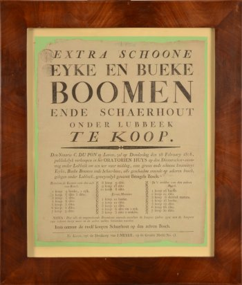 Poster for Selling Oak and Beech Trees