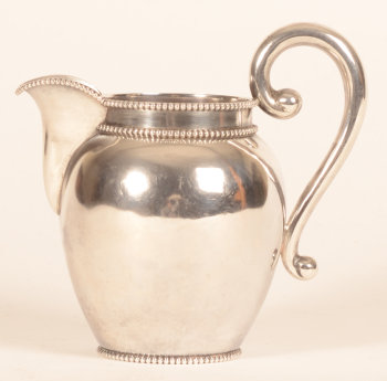 G.C. Reeser and son a silver cream jug