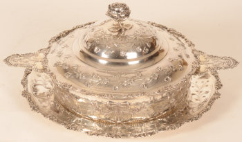 Simon Rosenau silver vegetable dish