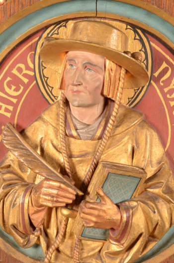 Saint Hieronymus in wood