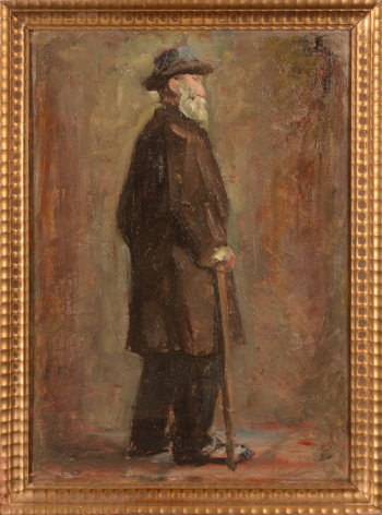 Saurer or Sauter portrait of a man with a cane