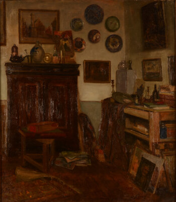 Willy Scaton interior of the artist 1931