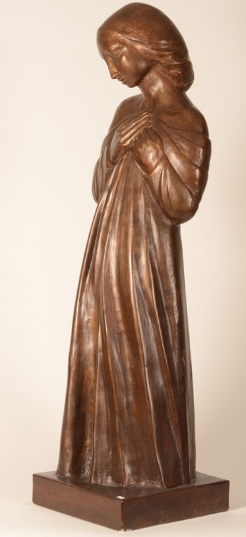 Unknown sculptor girl with gown