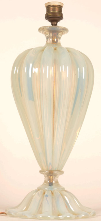 Seguso Murano lamp base